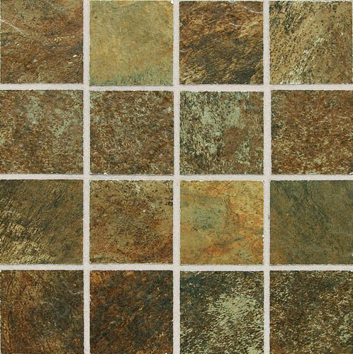 Slate Mosaic Floor Or Wall Porcelain Tile 3 X 3 At Menards