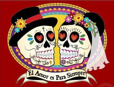 mexican skulls El Amor es Para Siempre