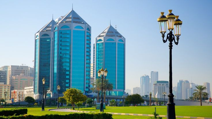 Crystal Plaza, a beautiful architecture in Sharjah that will leave you stunned.