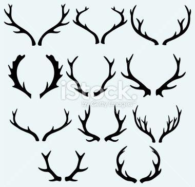 Deer horns Royalty Free Stock Vector Art Illustration