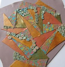 Making the patterned polymer clay sheet