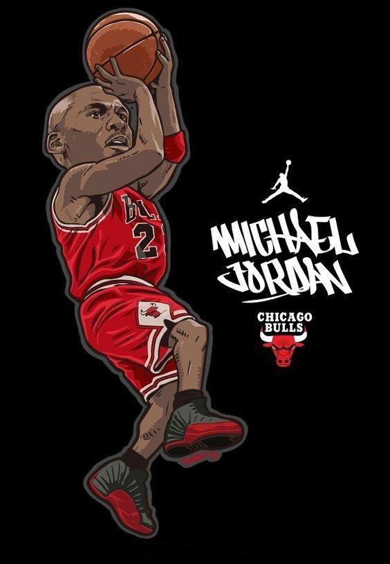 Michael Jordan Caricature