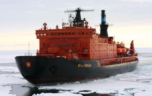 Russian Icebreaker to Take Olympic Torch to North Pole