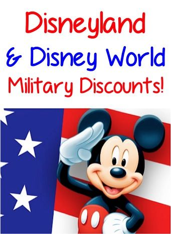 Disneyland and Disney World Military Discount - We paid less than $500 for 3 Day Park Hopper Tickets for our family of four earlier this year. Totally worth it!