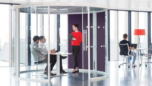 The new circular Vista meeting pod by Unifi