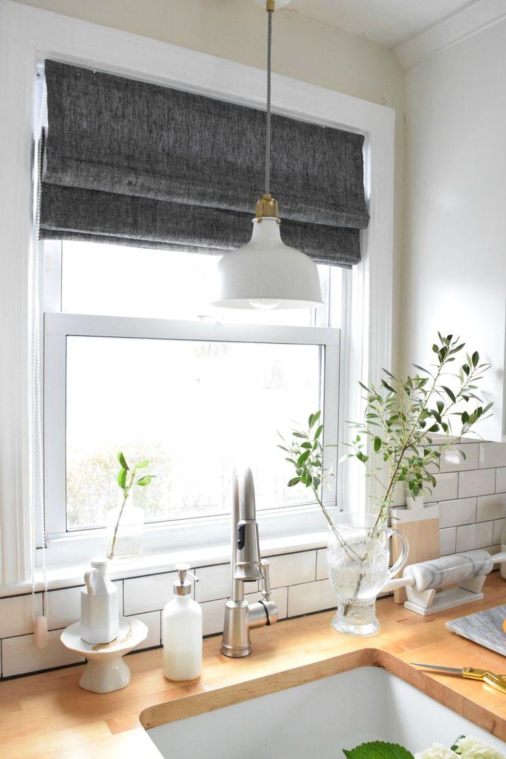 17 Best Ideas About Roman Shades Kitchen On Pinterest Kitchen Cabinets Farmhouse Kitchen
