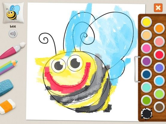 """Bee"" - Julia (age 5). #coloring #pages #memollow"