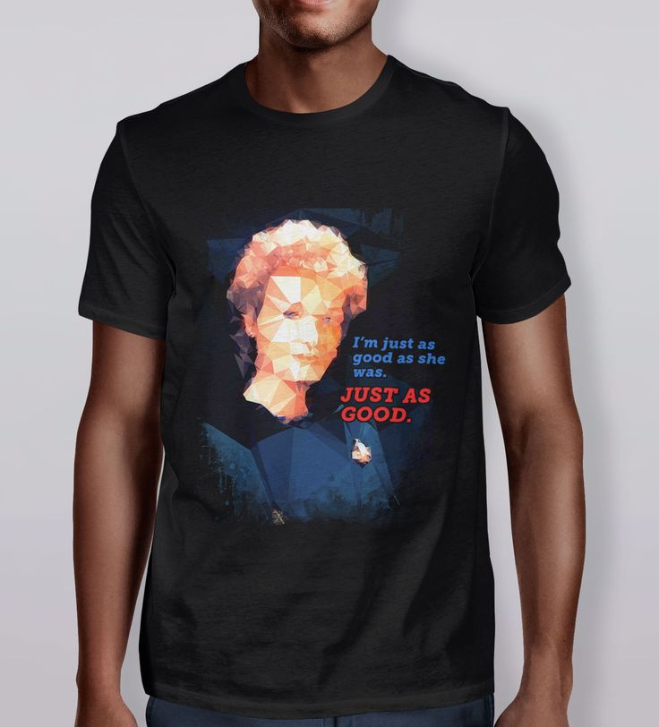 """I'm just as good as she was. JUST AS GOOD."" Dr. Katherine Pulaski, from #StarTrek: The Next Generation. 'The Physician' T-Shirt is part of the Polygraphy collection by Kevin Halfhill. Polygraphy is a collection of artwork inspired by pop culture and the human condition. #stng"