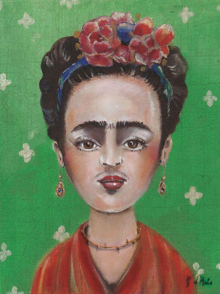 Frida acrilici su cartone telato