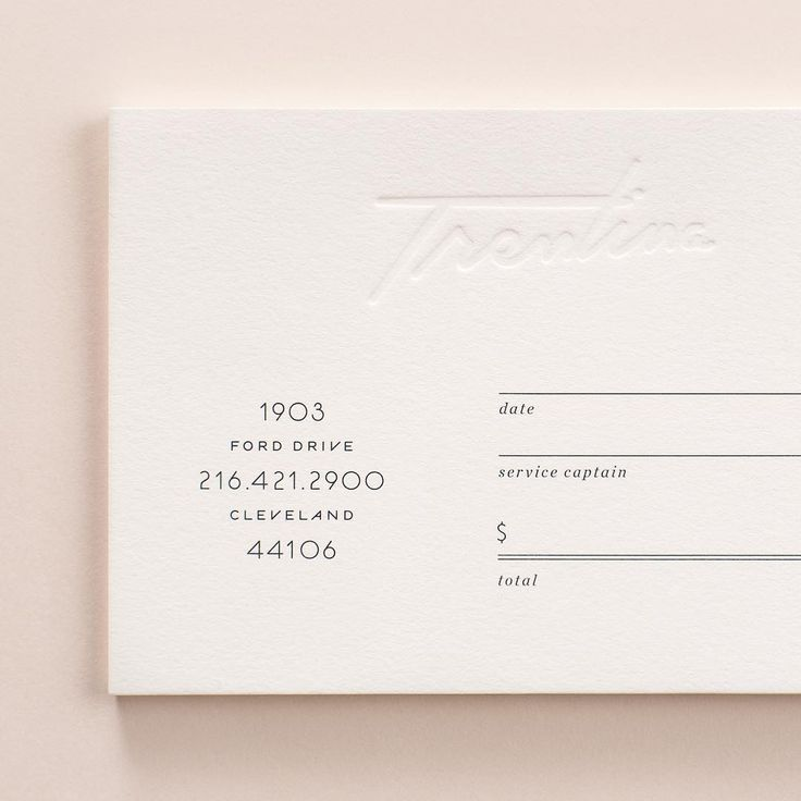 Trending appointment card