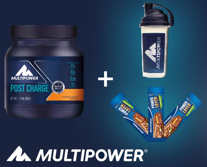 Post Charge Orange-Ginger 650g + Shaker si 3 batoane Power Layer