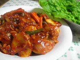 ダッカルビ(鶏の炒め物)☆韓国料理☆