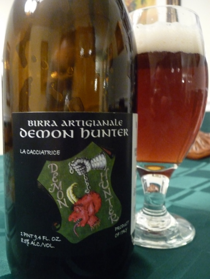 .Montegioco Demon Hunter.....You have to love the name of this great Belgian style strong dark ale from Italy! http://awe.sm/5kzo1 http://www.gourmetitaly.com/it/cerca?q=Montegioco&orderby=position&orderway=desc