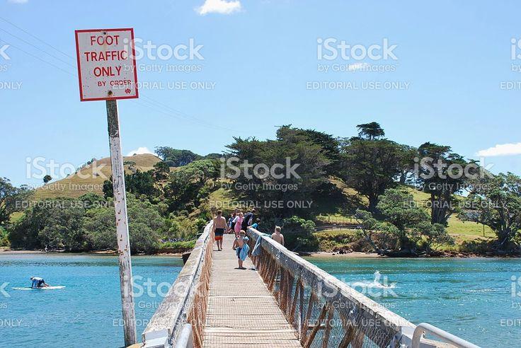 Pataua Footbridge, Whangarei District, Northland, New Zealand royalty-free stock photo