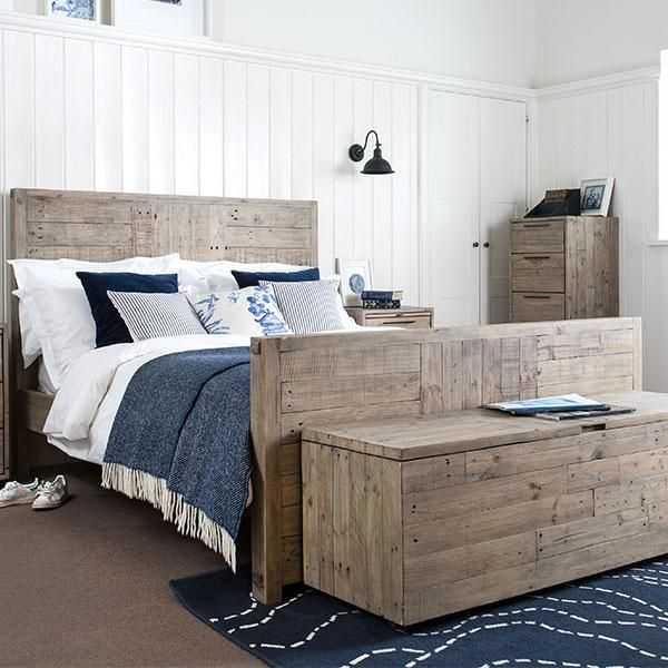Thornton High Reclaimed Wood Bed Cutout Lifestyle Reclaimed Wood Beds Wood Bed Design Wood Beds