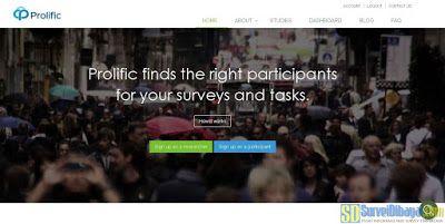 Situs online survey Prolific Academic | SurveiDibayar.com