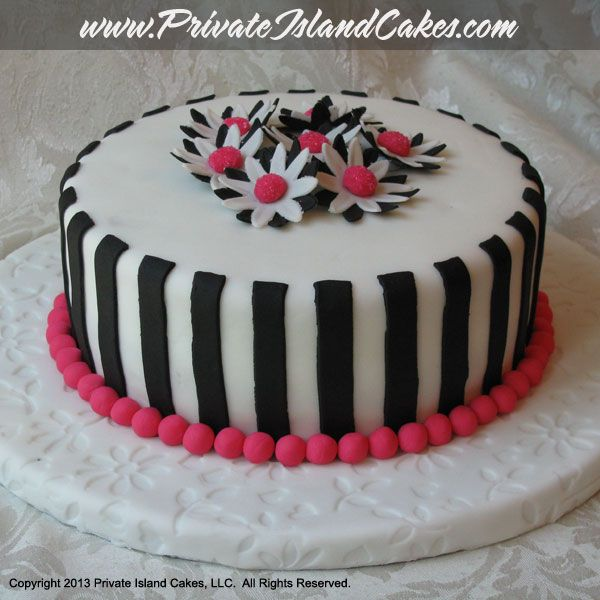 images of pink and white birthday cakes