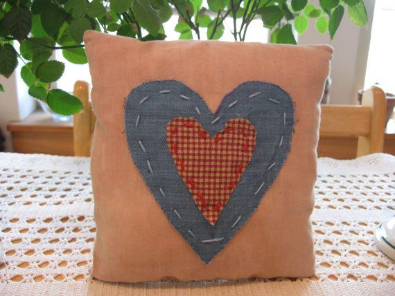 Rustic Americana Primitive Pillow FAAP OFG by annieshandmadedecor