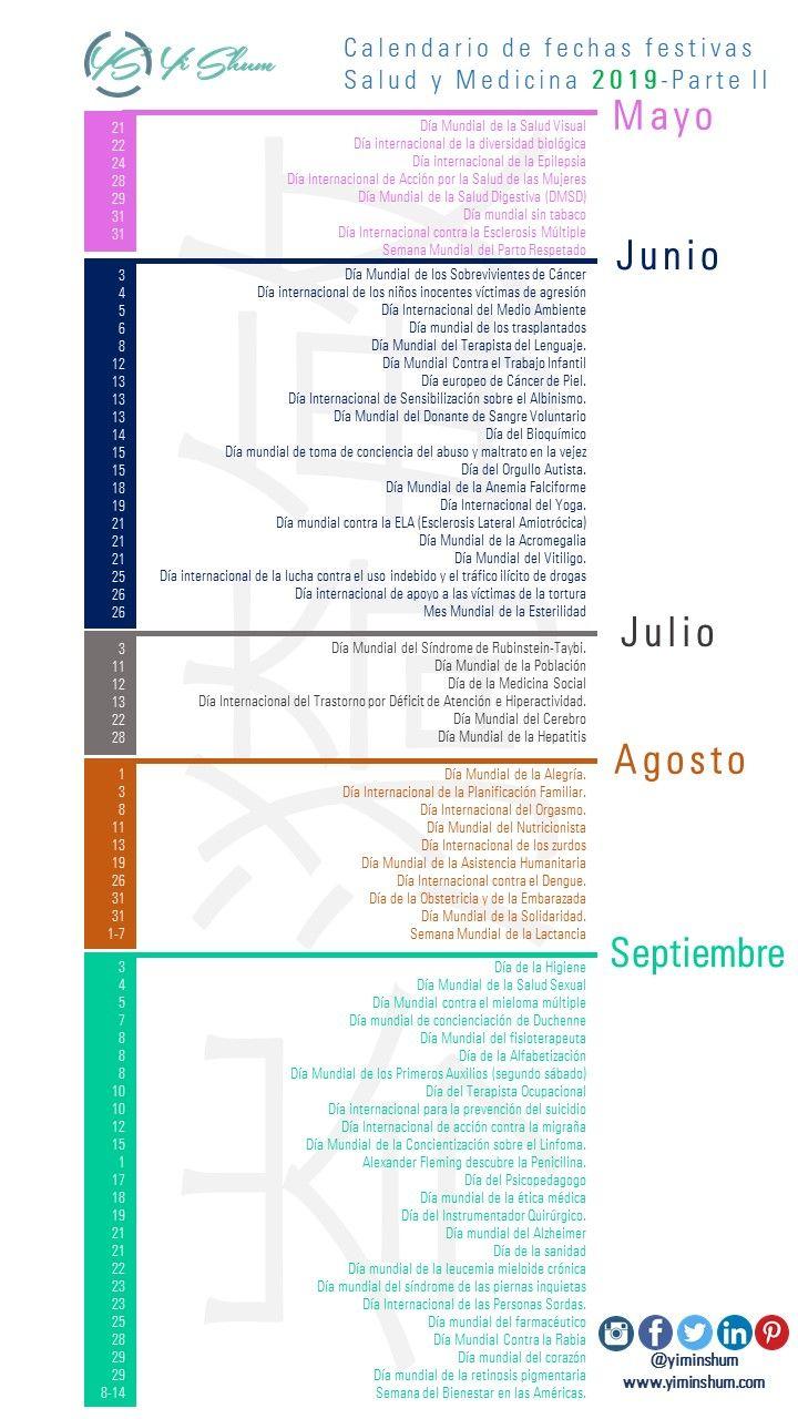 Calendario Panama 2019 Con Festivos.Pin En Salud