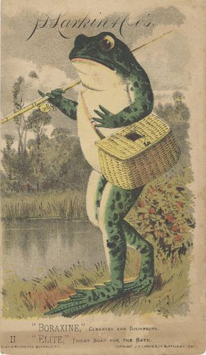 https://flic.kr/p/5HiKnP | J. D. Larkin & Co. (Manufacturers) | Persistent URL: digital.lib.muohio.edu/u?/tradecards,2441 Subject (TGM): Frogs; Toads; Amphibians; Fishing; Household soap; Cosmetics & soap; Chemical industry;