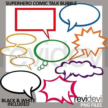 Superhero clip art set featuring comic talk bubble in various shapes. A great collection to decorate your worksheet and teaching materials! This clip art set can be purchased in a BUNDLE at a discounted price. Just click below link! Link-Superhero Clip Art - Spring Club
