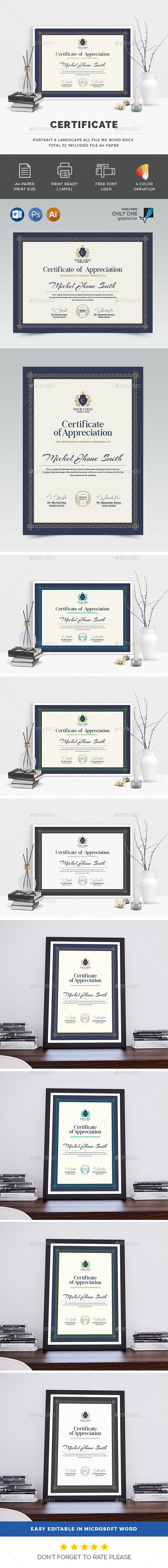 #Certificate - Certificates Stationery Download here: https://graphicriver.net/item/certificate/19515833?ref=alena994