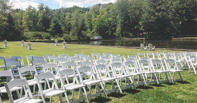Ceremony set-up #diamondsedge #greatdiamondisland #maine #portlandme #weddings