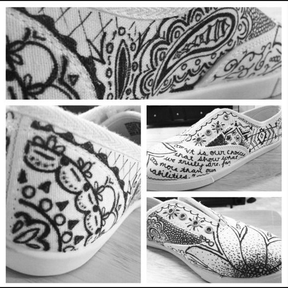 """**REQUEST YOUR SIZE** Sharpie Shoes! """"It is our choices that show what we truly are, far more than our abilities""""  <3 I can make these in whatever size you want! (Except half sizes) :) Shoes"""