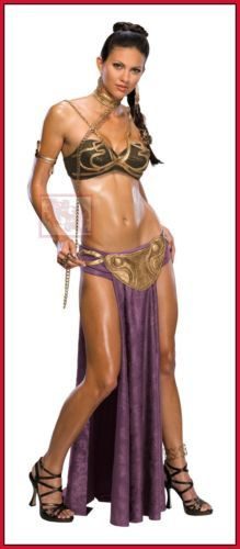 Pricess-Leia-Slave-Costume-Adult-Star-Wars-Return-Jedi-Sexy-Bikini-BDSM-Adult
