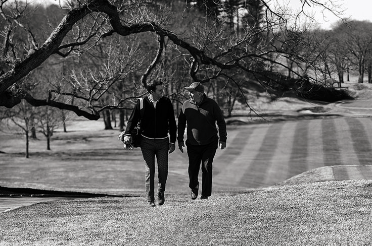 You've seen the #TomBrady we all know from the football field, but did you know one of his favorite pastimes is a quiet game of golf with his Dad? W