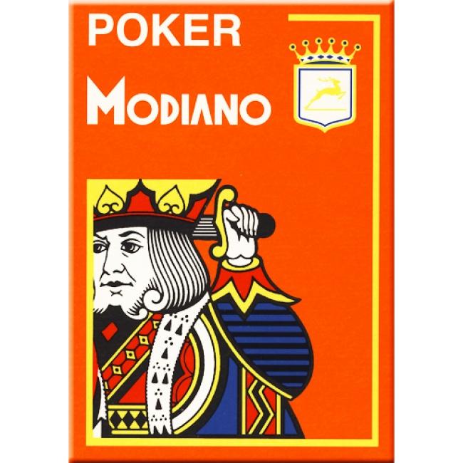 Geweldige poker kaarten gefabriceerd door de exclusieve Italiaanse fabrikant Modiano uit Trieste.