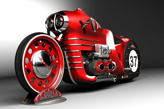 Concept bikeSports Cars, Concept Bikes, Little Red, Custom Motorcycles, Retro Design, Cars Riding, Concept Motorcycles, Red Riding Hoods, Mikhail Smolyanov