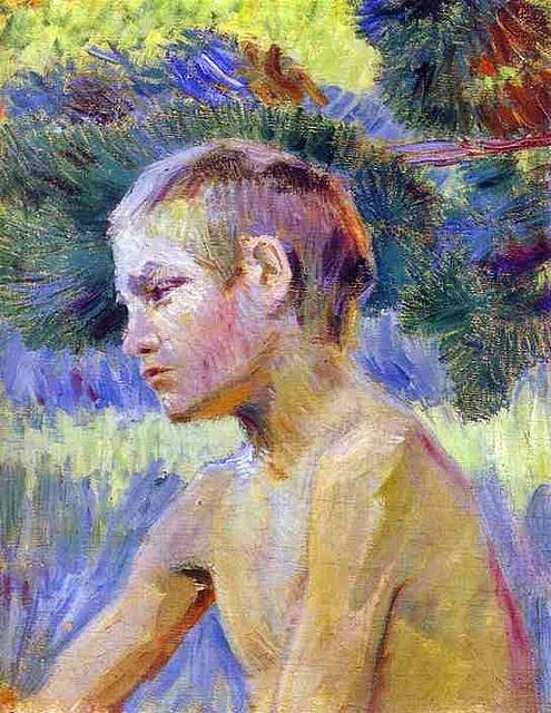 Borisov-Musatov, Victor (1870-1905) - 1901 Boy Seated (Museum of Russian Art, Kiev) by RasMarley, via Flickr