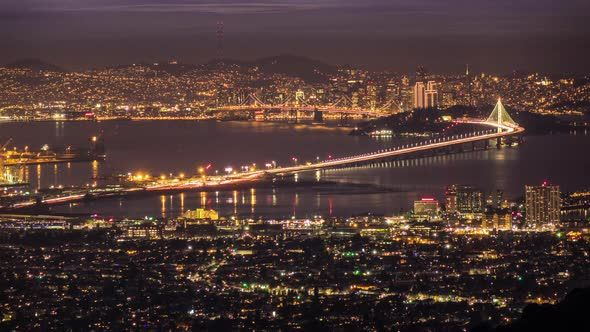 San Francisco Panorama by CineGeek Time lapse of San Francisco panorama shot from Berkley Hills showing the city and Bay Bridge