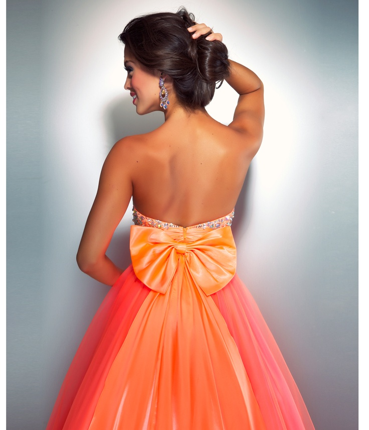 48 best images about Neon on Pinterest | One shoulder, Pink prom ...