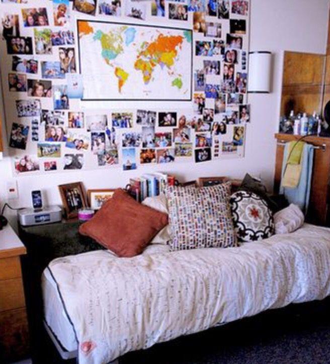 Bonita cabecera habitaciones pinterest cabecera for Decoracion de habitaciones para estudiantes universitarios