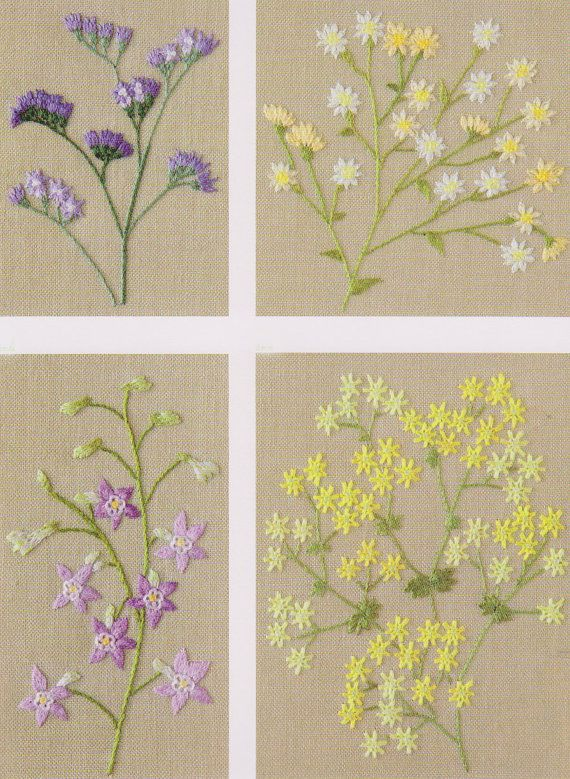PDF Pattern tutorial of My garden hand No.11 embroidery stitch come with guide color number