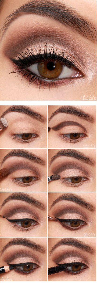 Resalta tus #OjosMarrones con este #Maaquillaje. Conquistarás a todos con tu mirada. #MaquillajeParaOjosMarrones #MaquillajePasoaPAso #Maquillaje