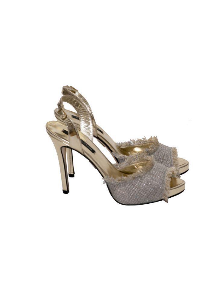 Sandały złote   NOWOŚCI \MORELLA BRUNI BUTY \ SANDAŁY/JAPONKI   donnamoderna.pl luxury shopping Rozmiar 39 Cena 1199 pln. #morellabruni