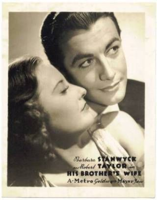 Barbara Stanwyck and Robert Taylor in promotion of His Brothers Wife