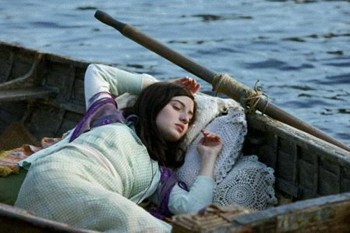 Asleep and adrift, could this be the Lady of Shalott ?