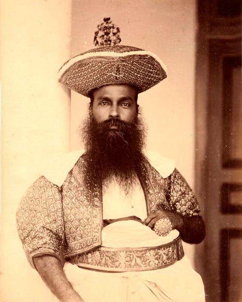 Kandyan chief - Ceylon, 1875