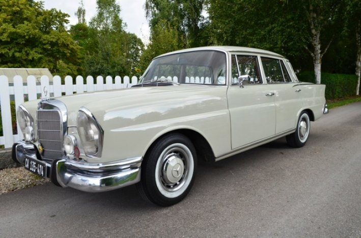 1967 Mercedes-Benz, 230  1967 | MERCEDES 230 S | W111 | Fintail | Automatic |  The beginning of a new era! With panoramic windows, tail fins and plenty of space, the new 220-heralded the era of the unit body. A trendsetter appeared ...  Here a carefully restored 230-grit wheel with automatic. An originating from South Africa car with RHD and very good metal substance - because of the dry climate.  C ..  http://www.collectioncar.com/detailed.php?ad=64817&category_id=1