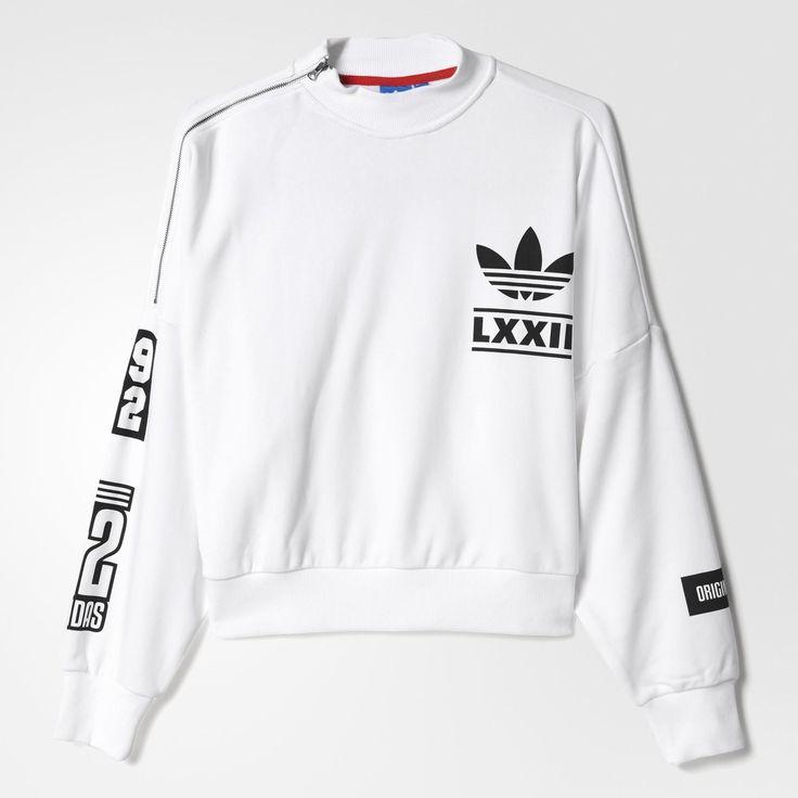 adidas berlin trefoil logo sweatshirt white adidas. Black Bedroom Furniture Sets. Home Design Ideas