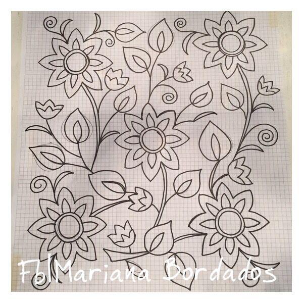 Resultado de imagen para bordado mexicano patrones pinterest