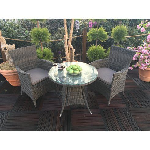 Madison 2 Seater Bistro Set with Cushions