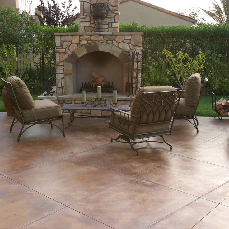 For A Unique Decorative Finish That Adds Depth And Warmth To Your Home By  Transforming Ordinary · Painted Patio ConcreteConcrete ...