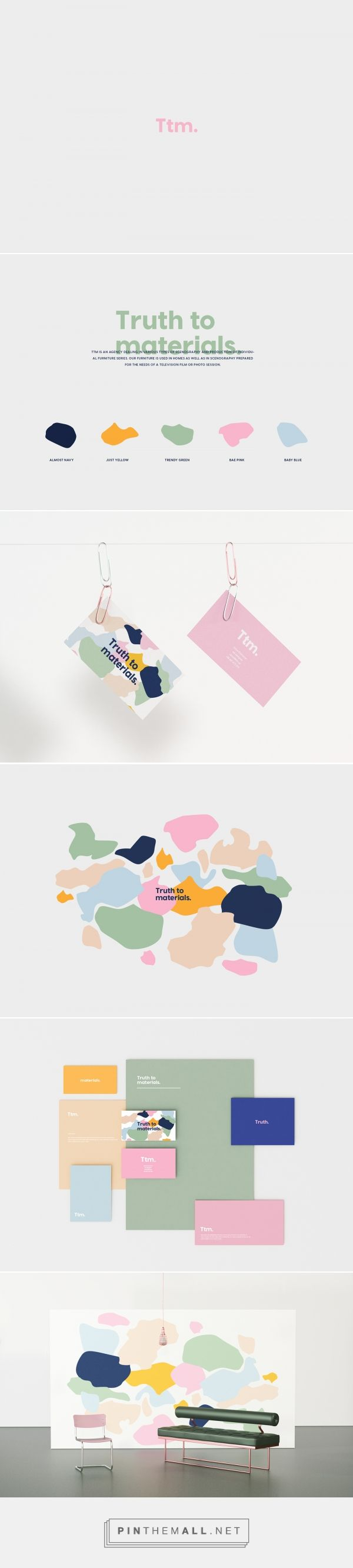 Truth to materials. on Behance. #branding visual identity, logo, colourful branding, contemporary branding