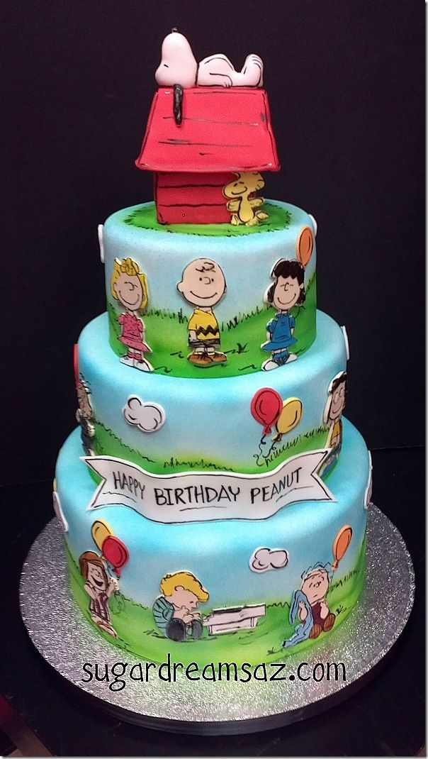 Charming Charlie Brown Cake --- @catherine gruntman gruntman gruntman gruntman Growick I feel like you probably need to know about this. :)