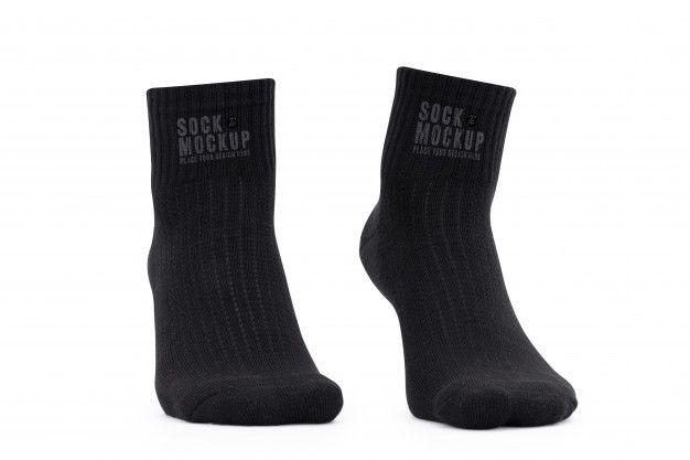 Download Blank Black Socks Mockup Template For Your Design Mockup Template Black Socks Bag Mockup